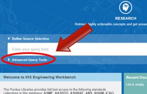 Click on Advanced Query Tools to see more query options